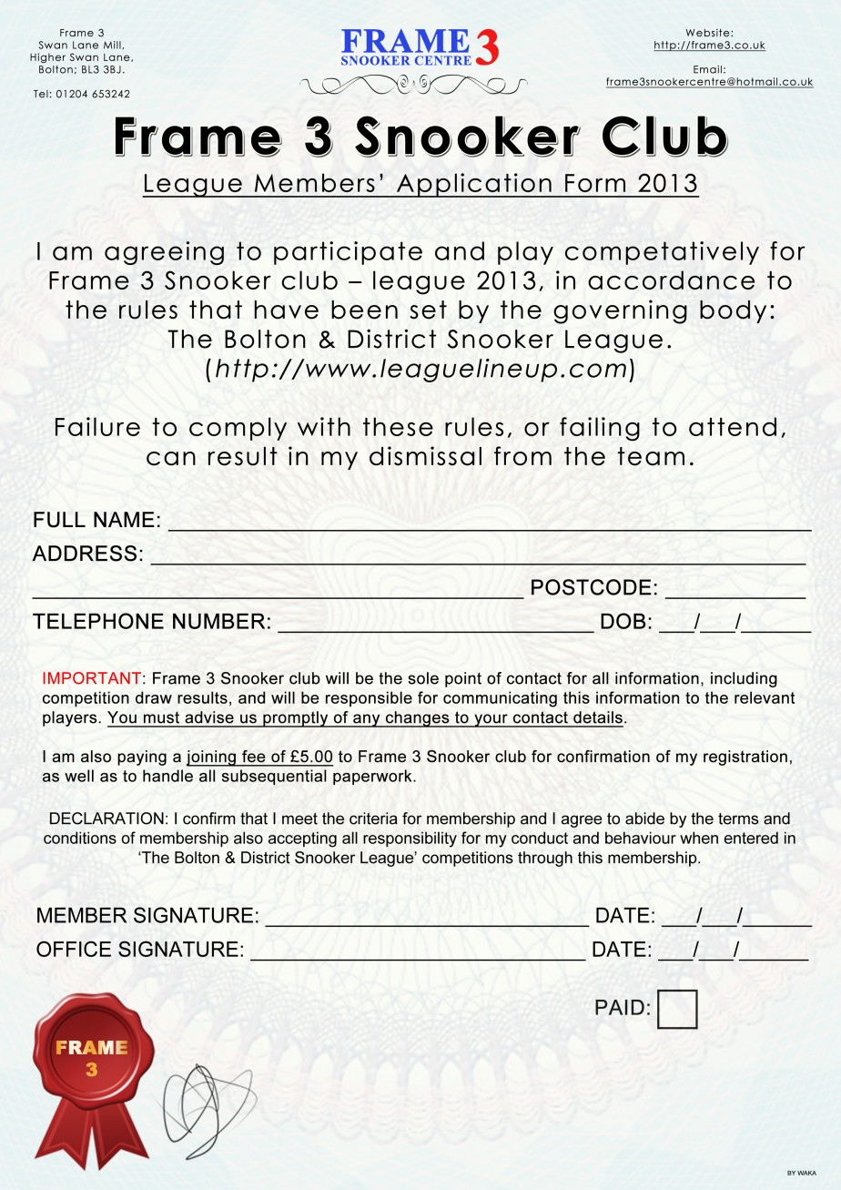 league form